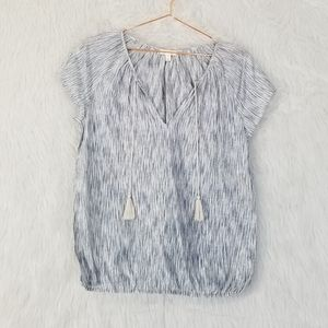Soft by Joie Short Sleeve Peasant Style Blouse